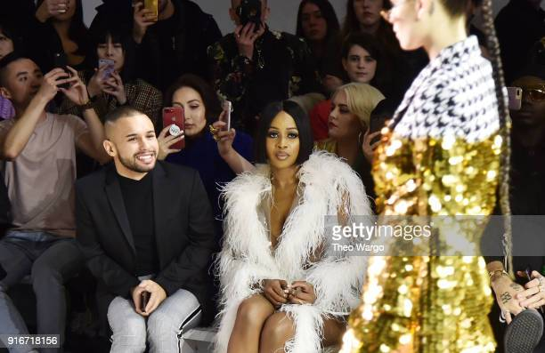 Jeremy Atie and Remy Ma attend the Christian Cowan fashion show during New York Fashion Week The Shows at Gallery II at Spring Studios on February 10...