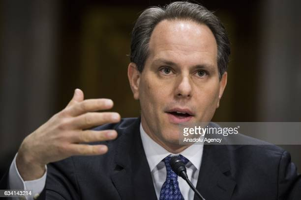 Jeremy Bash former Chief of Staff at the US Department of Defense speaks during a Senate Foreign Relations Committee hearing on the plan to defeat...