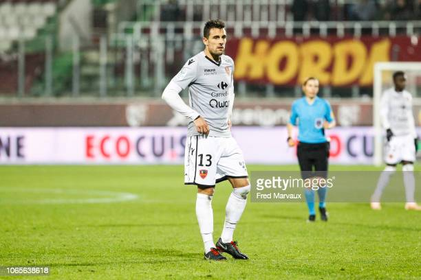 Jeremy Blayac of Gazelec Ajaccio during the Ligue 2 match between Metz and Gazelec Ajaccio on November 26 2018 in Metz France