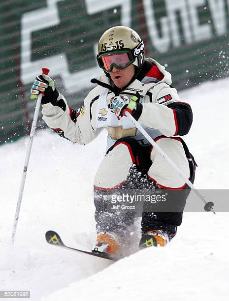 Jeremy Bloom of the USA competes in the Men's Dual Moguls qualification during the Chevrolet Freestyle World Cup on January 29 2005 at Deer Valley...