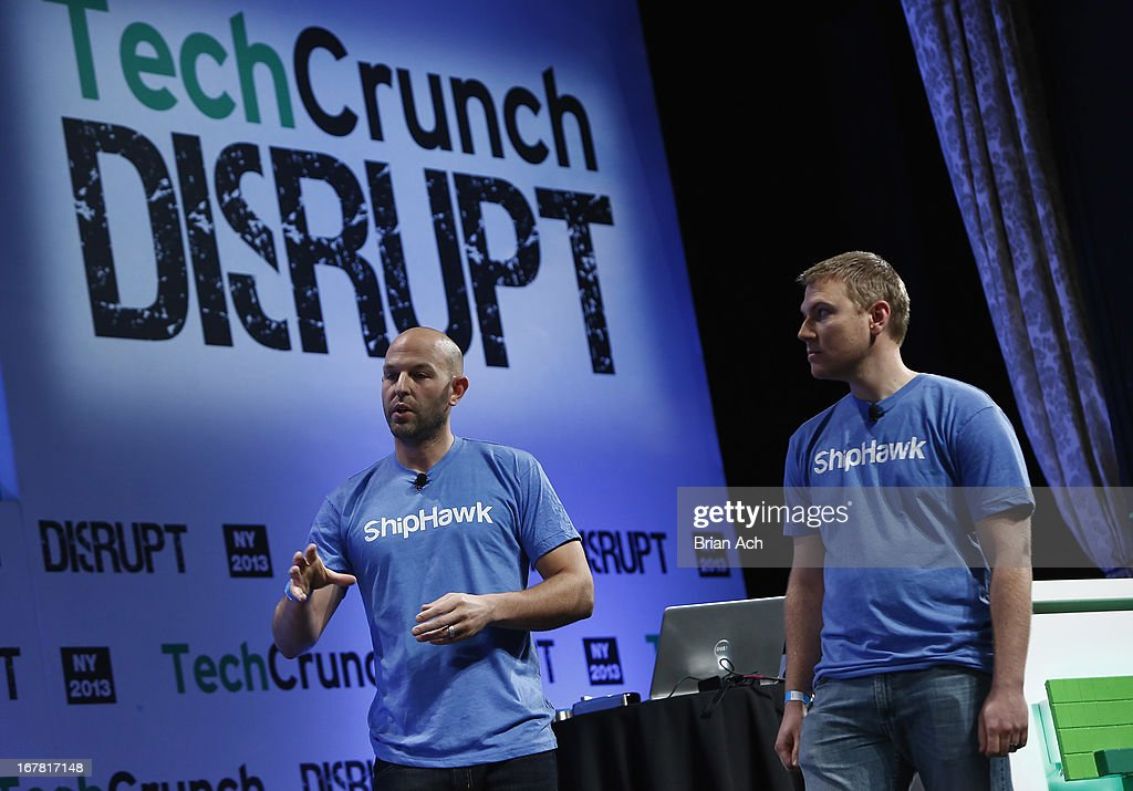 Jeremy Bodenhamer and Aaron Freeman present ShipHawk onstage at the TechCrunch Disrupt NY 2013 at The Manhattan Center on April 30, 2013 in New York City.