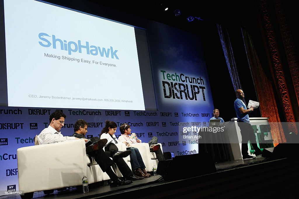 Jeremy Bodenhamer presents ShipHawk onstage at the TechCrunch Disrupt NY 2013 at The Manhattan Center on April 30, 2013 in New York City.