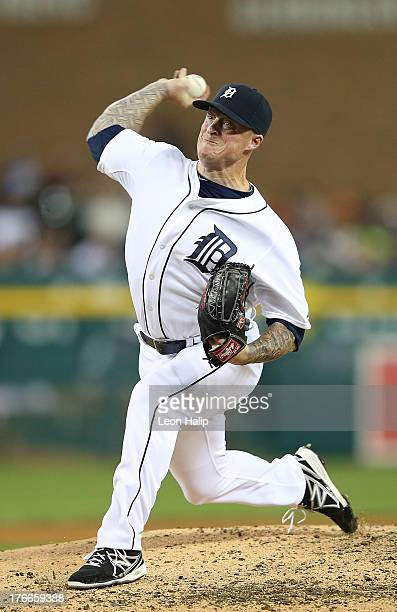 Jeremy Bonderman of the Detroit Tigers pitches in the fifth inning during the second game of the doubleheader against the Kansas City Royals at...