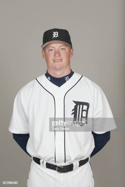 Jeremy Bonderman of the Detroit Tigers poses for a portrait during photo day at Marchant Stadium on February 27 2005 in Lakeland Florida