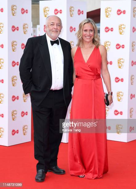 Jeremy Bowen and Sophie Raworth attend the Virgin Media British Academy Television Awards 2019 at The Royal Festival Hall on May 12, 2019 in London,...
