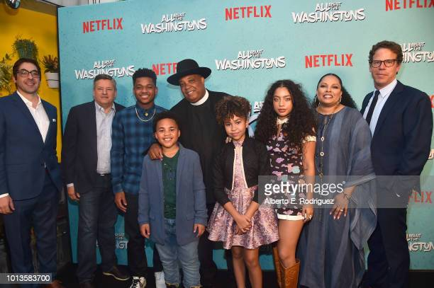 Jeremy Bronson Ted Sarandos Nathan Anderson Maceo Smedley Rev Run Leah Rose Randall Kiana Lede' Justine Simmons and Andrew Reich attend a screening...