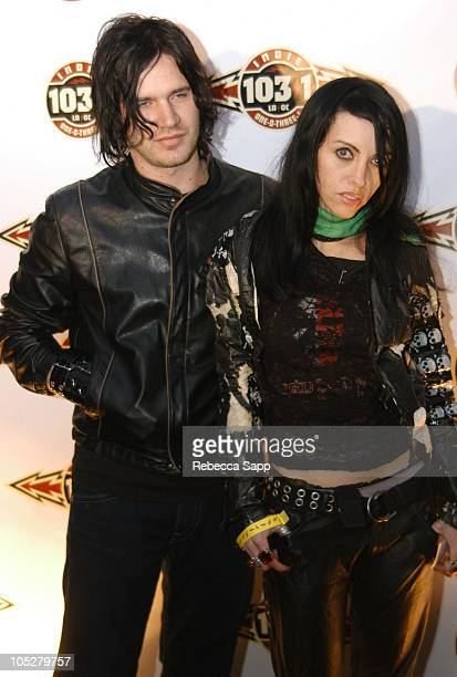 Jeremy Brown and Roxy Saint of Roxy Saint during Camp Freddy in Concert with Suicide Girls Sponsored by Indie 1031 Arrivals at Avalon Hollywood in...
