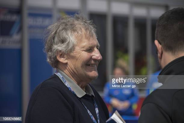 Jeremy Burgess of Australia smiles in paddock during the MotoGP of Australia Previews during previews ahead of the 2018 MotoGP of Australia at...