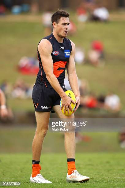 Jeremy Cameron of the Giants shapes to kick for goal during the AFL Inter Club match between the Sydney Swans and the Greater Western Sydney Giants...