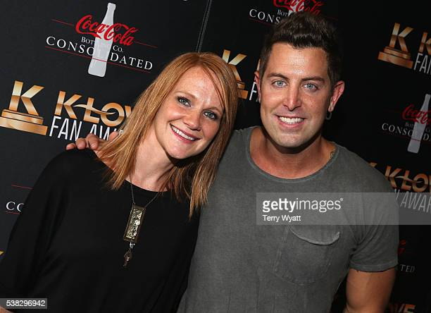Jeremy Camp and Adrienne Camp attend the 4th Annual KLOVE Fan Awards at The Grand Ole Opry House on June 5, 2016 in Nashville, Tennessee.