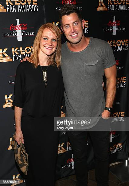 Jeremy Camp and Adrienne Camp attend the 4th Annual KLOVE Fan Awards at The Grand Ole Opry House on June 5 2016 in Nashville Tennessee