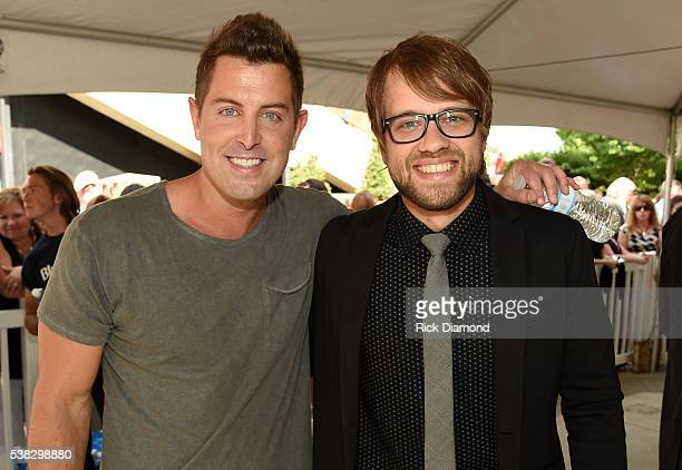 Jeremy Camp and Josh Wilson attend the 4th Annual KLOVE Fan Awards at The Grand Ole Opry House on June 5 2016 in Nashville Tennessee