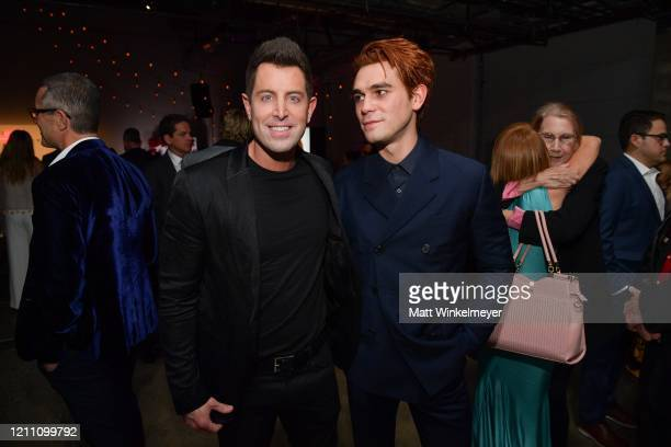 """Jeremy Camp and KJ Apa attend the premiere of Lionsgate's """"I Still Believe"""" on March 07, 2020 in Hollywood, California."""
