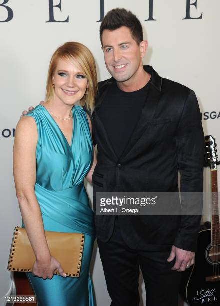 """Jeremy Camp and wife Adrienne Camp arrives for the Premiere Of Lionsgate's """"I Still Believe"""" held at ArcLight Hollywood on March 7, 2020 in..."""