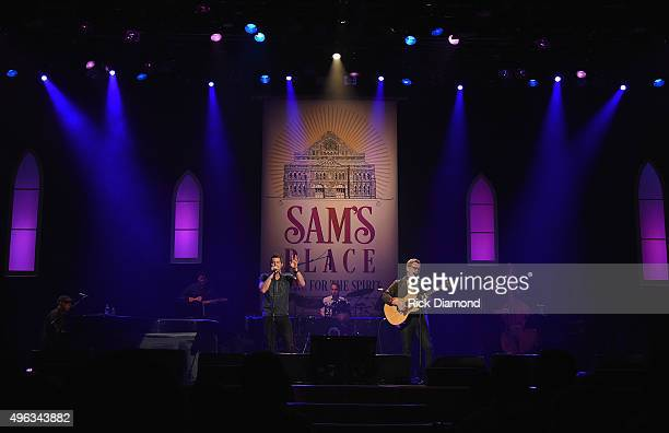 Jeremy Camp joins Host Steven Curtis Chapman during Sam's Place - Music For The Spirit at The Ryman Auditorium on November 8, 2015 in Nashville,...