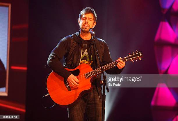 Jeremy Camp performs during the GMA Gospel Music Hall of Fame Induction Ceremony at Trinity Music City on January 24 2011 in Hendersonville Tennessee