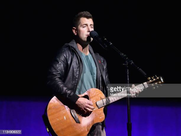 """Jeremy Camp performs onstage at CinemaCon 2019 Lionsgate Invites You to An Exclusive Presentation and Screening of """"Long Shot"""" at The Colosseum at..."""