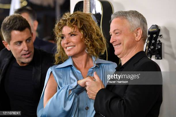 """Jeremy Camp, Shania Twain, Gary Sinise attend the Premiere Of Lionsgate's """"I Still Believe"""" at ArcLight Hollywood on March 07, 2020 in Hollywood,..."""