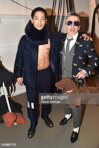 Jeremy Carver and Simon Doonan attend The Blue Jacket Fashion Show Benefiting Prostate Cancer Foundation at Pier 59 on February 7 2018 in New York...