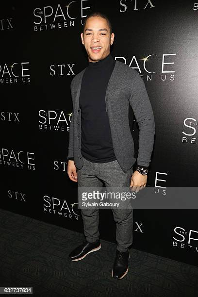 """Jeremy Carver attends STX Entertainment with The Cinema Society Host a Screening of """"The Space Between Us"""" on January 25, 2017 in New York City."""