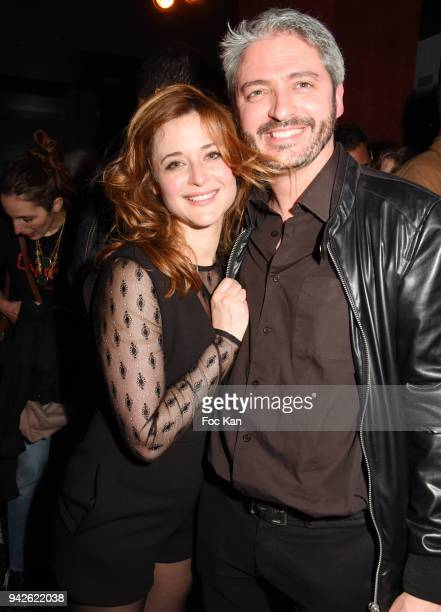 Jeremy Cerrone and Ariane Frier Ferrari attend the Bain de Foule Party 'Minuit' and Kongas Show Case At Les Bains Paris on April 5 2018 in Paris...