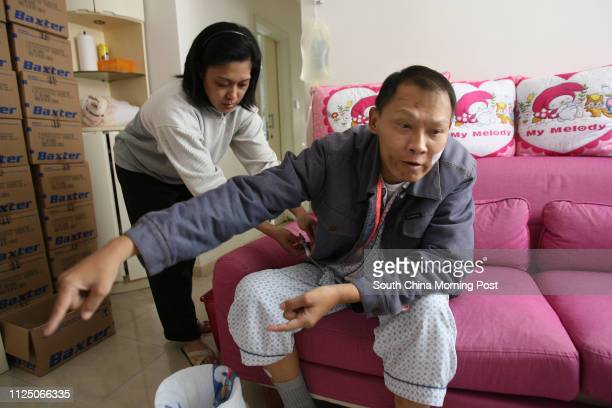 Jeremy Chan Taikeung former soldier in Hong Kong regiment for British army who suffered from kidney disease and diabetes pictured at his home 02...
