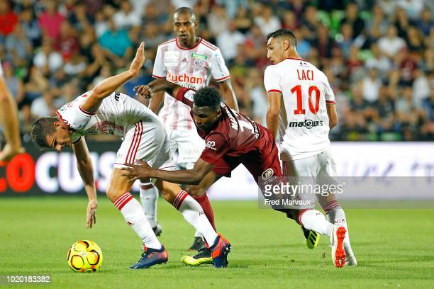 Yann Boe Kane of AC Ajaccio during the French Ligue 2 match between FC Metz and AC Ajaccio at Stade SaintSymphorien on August 20 2018 in Metz France
