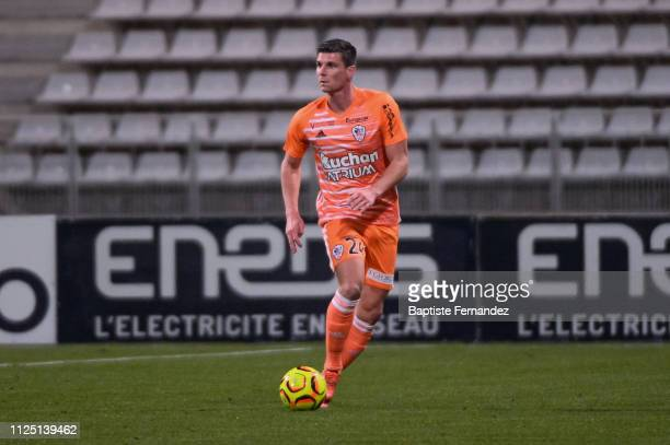 Jeremy Choplin of Ajaccio during the French Ligue 2 Football match between Paris FC and AC Ajaccio at Stade Charlety on February 15 2019 in Paris...