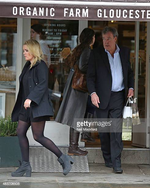 Jeremy Clarkson and daughter Emily Clarkson are seen leaving an organic food store in Notting Hill on April 7 2014 in London England