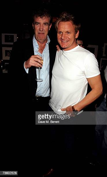 Jeremy Clarkson and Gordon Ramsay attend private party at Ronnie Scott's hosted by Gary Farrow on March 15 2007 in London England