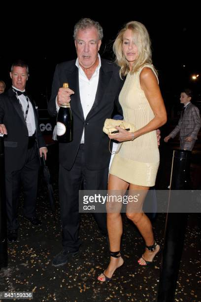 Jeremy Clarkson and Lisa Hogan at the GQ Awards on September 5 2017 in London England
