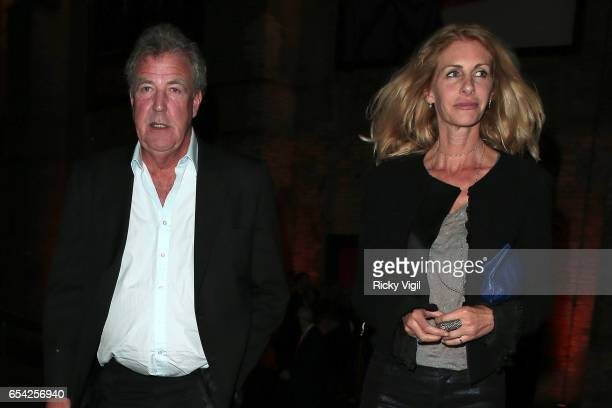 Jeremy Clarkson and Lisa Hogan attend Roundhouse Fundraising Gala on March 16 2017 in London England