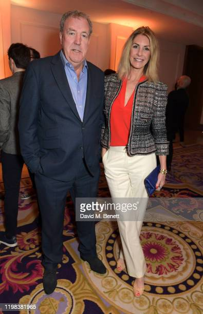 Jeremy Clarkson and Lisa Hogan attend the GQ Car Awards 2020 in assoociation with Michelin at the Corinthia Hotel London on February 3 2020 in London...