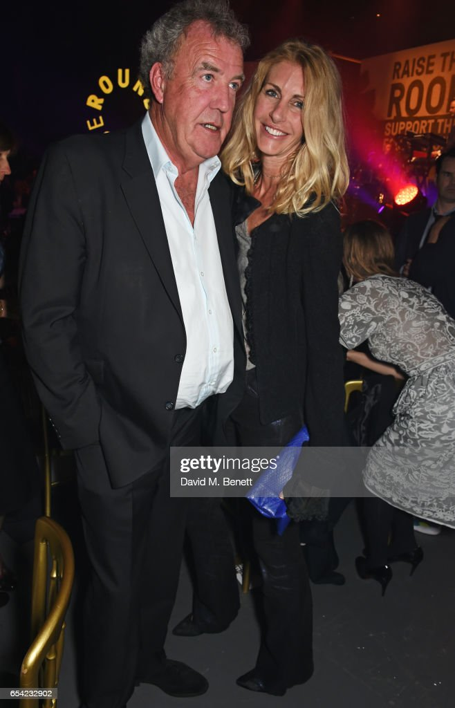 Jeremy Clarkson (L) and Lisa Hogan attend the Roundhouse Gala at The Roundhouse on March 16, 2017 in London, England.