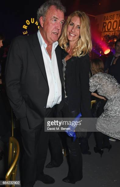 Jeremy Clarkson and Lisa Hogan attend the Roundhouse Gala at The Roundhouse on March 16 2017 in London England