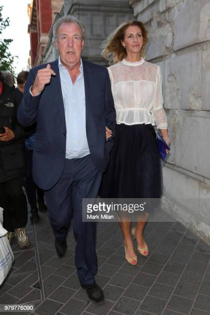 Jeremy Clarkson and Lisa Hogan attending The Victoria and Albert Museum Summer Party on June 20 2018 in London England