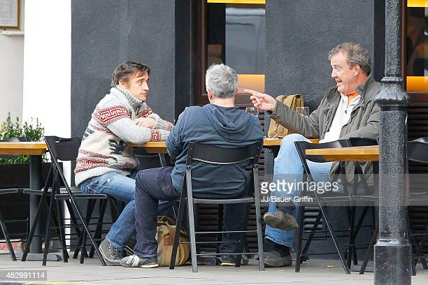 Jeremy Clarkson and Richard Hammond are seen on January 10 2012 in London United Kingdom