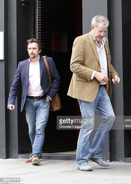 Jeremy Clarkson and Richard Hammond are spotted having lunch together on September 23 2015 in London England