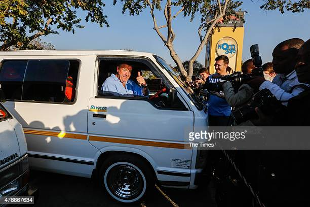 Jeremy Clarkson drives a taxi on June 10 2015 in Johannesburg South Africa Clarkson and his former Top Gear colleagues Richard Hammond and James May...