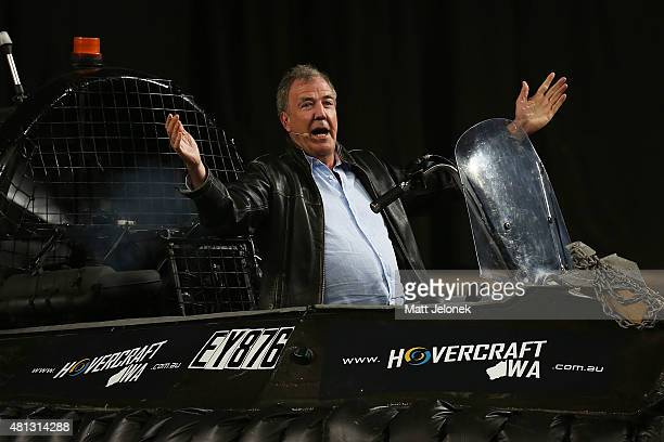 Jeremy Clarkson during Clarkson Hammond and May Live at Perth Arena on July 19 2015 in Perth Australia