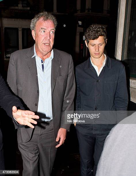 LONDON ENGLAND May 14 Jeremy Clarkson is seen arriving at the Ivy restaurant Soho on May 14 2015 in London England