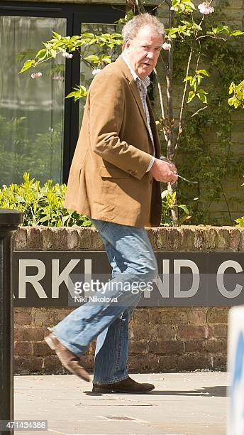 Jeremy Clarkson is seen in Notting Hill on April 28 2015 in London England