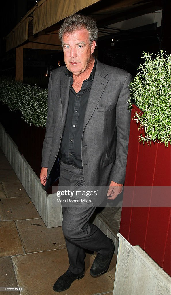 Jeremy Clarkson leaving Lou Lou's club on July 3, 2013 in London, England.