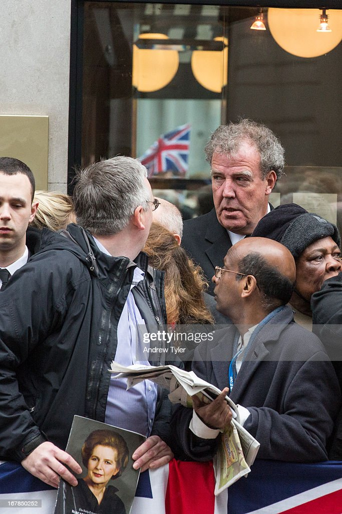 Jeremy Clarkson at Margaret Thatcher's Funeral : News Photo