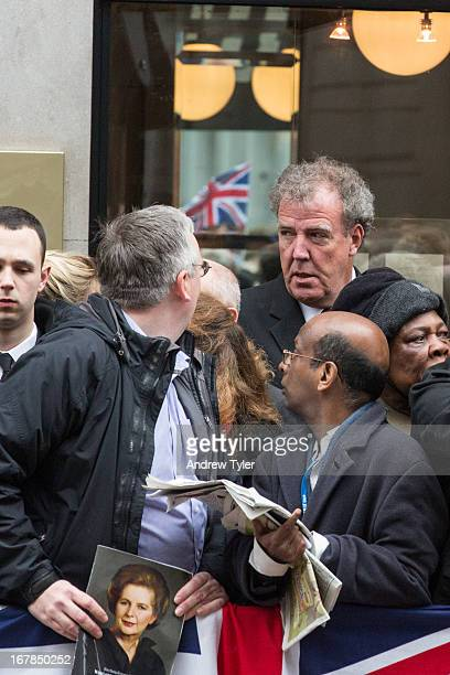 CONTENT] Jeremy Clarkson makes his way through the crowds on his way to attend Margaret Thatcher's funeral at St Paul's Cathedral London