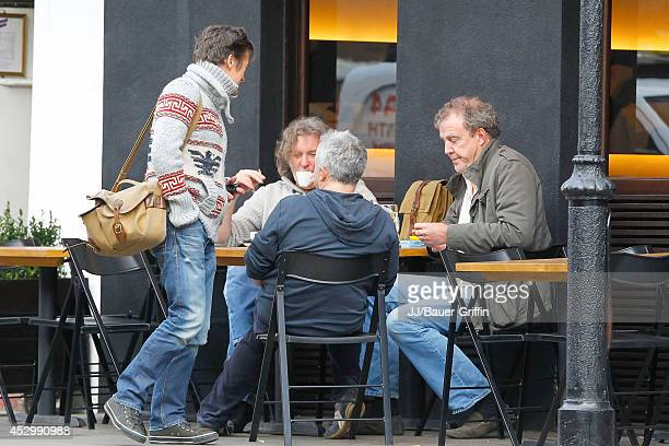 Jeremy Clarkson Richard Hammond and James May are seen on January 10 2012 in London United Kingdom