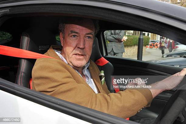 Jeremy Clarkson seen leaving his West London home on March 13 2015 in London England