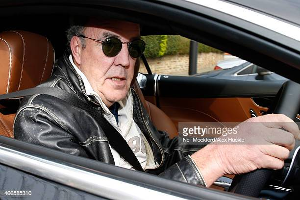Jeremy Clarkson seen leaving his West London home on March 17 2015 in London England