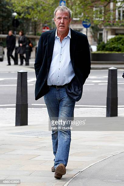 Jeremy Clarkson sighted arriving at the BBC Studios Portland Place on April 22 2014 in London England