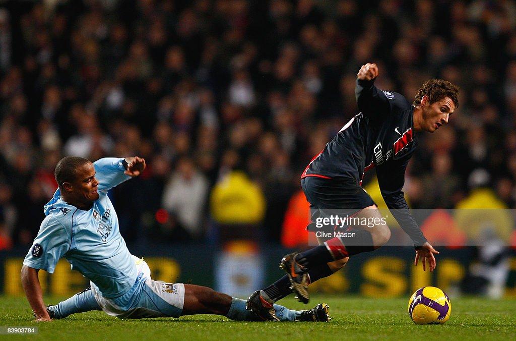 Manchester City v Paris Saint-Germain - UEFA Cup : News Photo